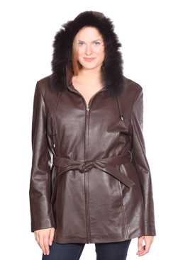 Christian NY | Elle Leather Parka