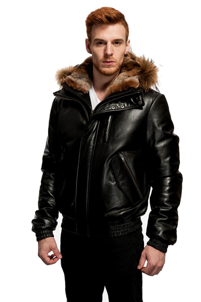 Original Goose | Baron Leather/Down Filled V-Bomber - Wilda Leather
