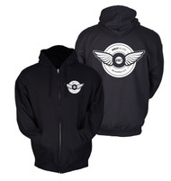Tire Wing Zip-Up Hoodie