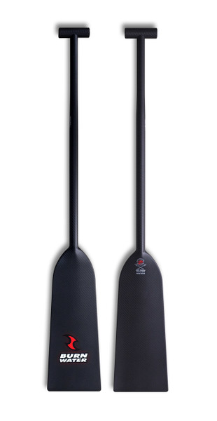 Burnwater Reactor II dragon boat paddle - 100% carbon - made out of a beautiful 2x2 carbon fibre twill weave and is one of the lightest and stiffest dragon boat paddles on the market (370 - 390g)