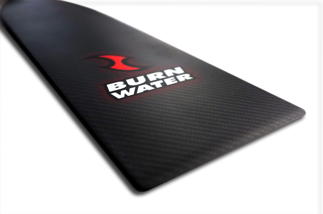 Burnwater dragon boat paddles are known for their tapered blade edge producing  a clean entry and catch.