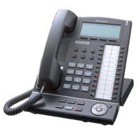 Panasonic KX-T7636-B Super Hybrid Digital Phone Black