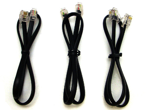 Plantronics Line Cords - Lot of Three