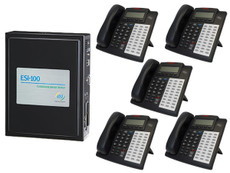 ESI CS-100 Phone System with 48 Key H DFP Phones Bundle