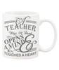 A Teacher Take A Hand, Opens A Mind, Touches A Heart Ceramic Coffee Mug - Better than an Apple
