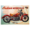 "Indian Motorcycles 1937 Four Replica Aluminum Sign 9"" x 12"" w/Shadow Mounts