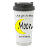 Love You to the Moon and Back with Bight Moon and Star / Add a Name to the other side of the mug