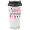 Our Hearts Belong to Grandma Travel Mug /Tumbler  Add a Name to the ther Side