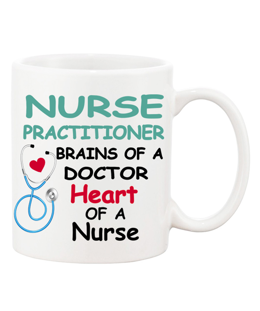 Worlds best doctor coffee mugs - Nurse Practitioner Brains Of A Doctor Heart Of A Nurse Cute Ceramic Coffee Mug