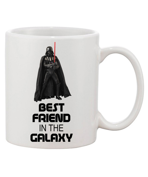 Best Friend in the Galaxy Ceramic Coffee Mug!! Our Force is Strong