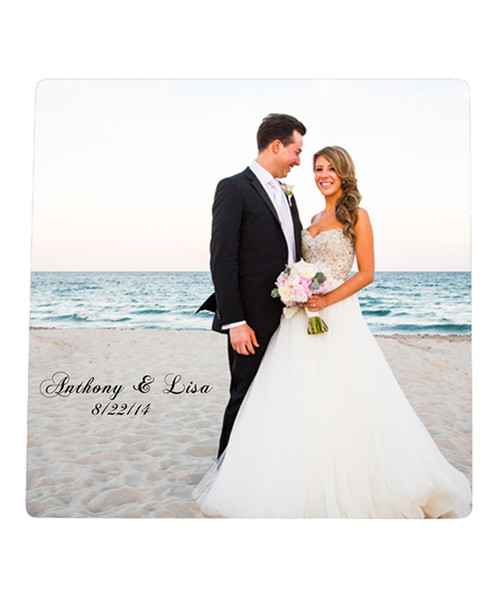 Custom Personalized Coasters - Glossy Hardboard with Cork Back - Set of 4 with Your Photo / Logo / Text