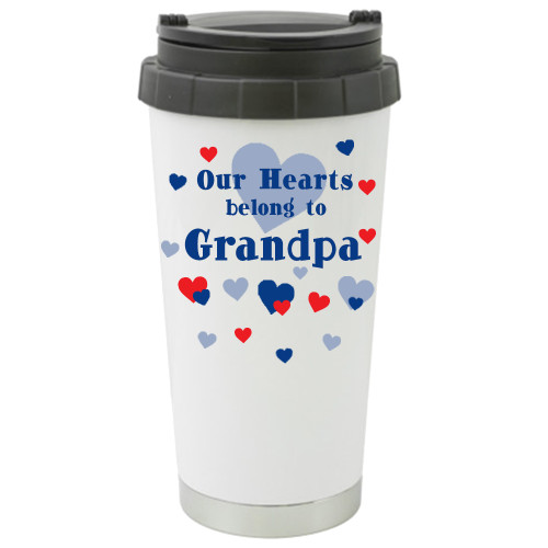 Our Hearts Belong to Grandpa Travel Mug / Add a Name to the ther Side
