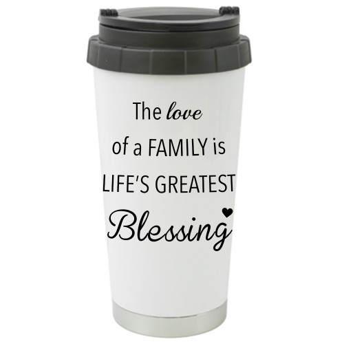 The Love Of Family Travel Mug / Add a Name to the ther Side