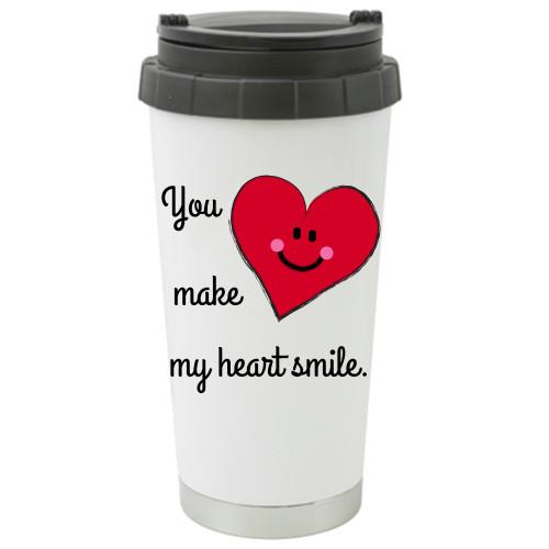 You Make My Heart Smile Travel Mug / Tumbler