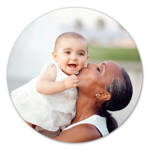 Custom Personalized 11.75 Round Metal Photo Panel Wall Art w/ Your Photo, Art or Design w/Shadow Mounts Ready to Hang