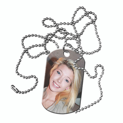"""Custom Personalized Dog Tags - 1 Sided w/ your Picture, Name, or Logo Comes with Jump Ring and 30"""" Ballchain"""