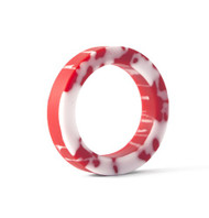 Cock Ring - Red & White - Large