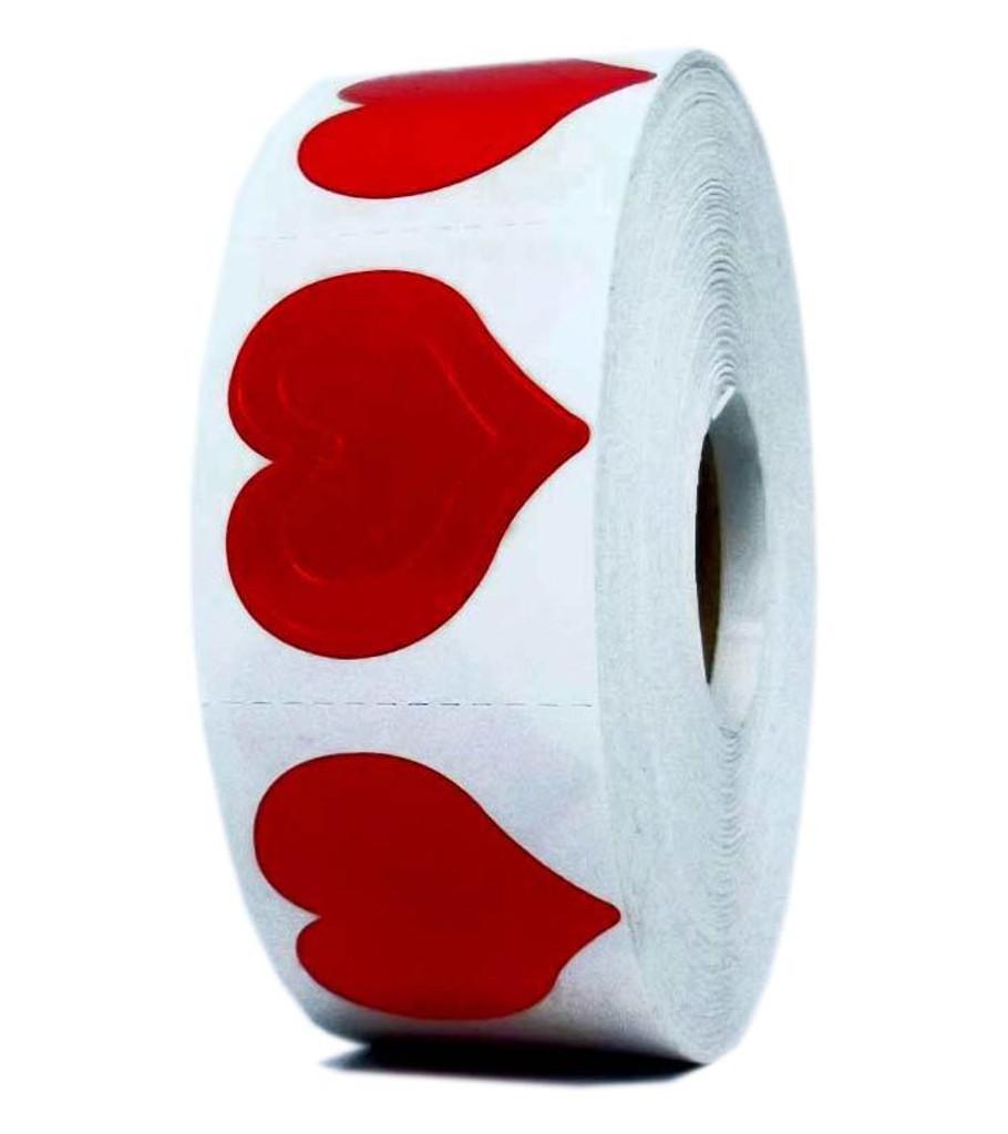 3-WAY HEARTS Body Stickers - 1000 ct.