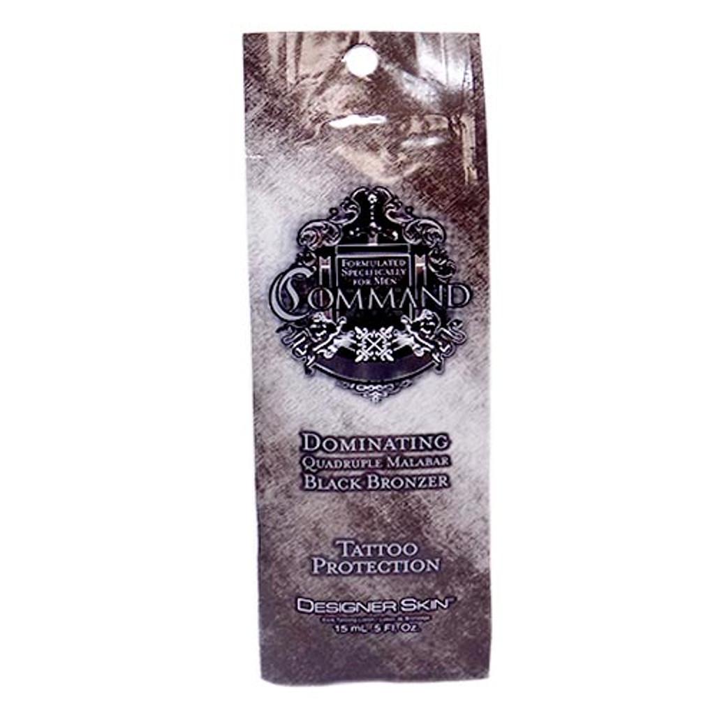 Designer Skin COMMAND Black Bronzer for Men - .5 oz. Packet