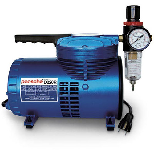 Paasche D220R Air Compressor w/Regulator 1/6 HP