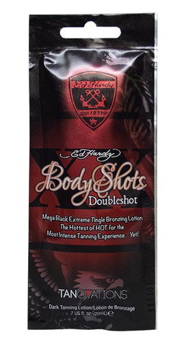 Ed Hardy BODY SHOTS DOUBLESHOT Black Tingle Bronzer Packet - .7 oz.