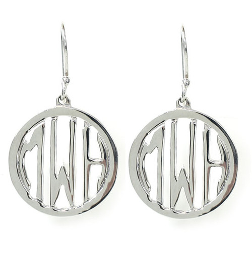 Personalized Cutout Circle Earrings