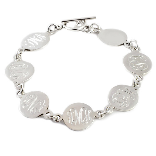 Personalized Silver Family Link Bracelet