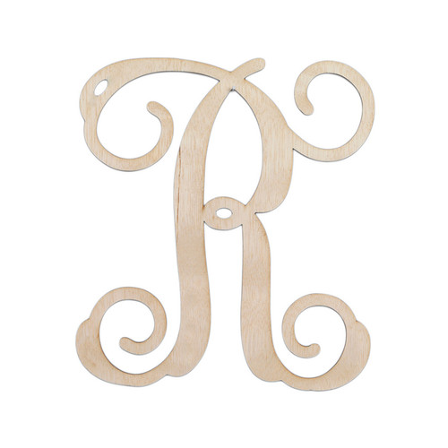 Personalized Single Initial Wooden Cutout