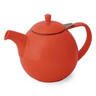 Curve Teapot 45 oz. - Paprika