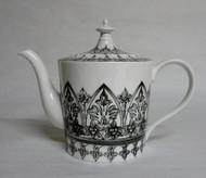 Black and White Ceramic Teapot