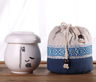 """Asian Style Portable Teacup Set - """"Blessing"""""""