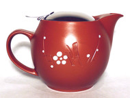 Engraved Plum Teapot – 15 oz.