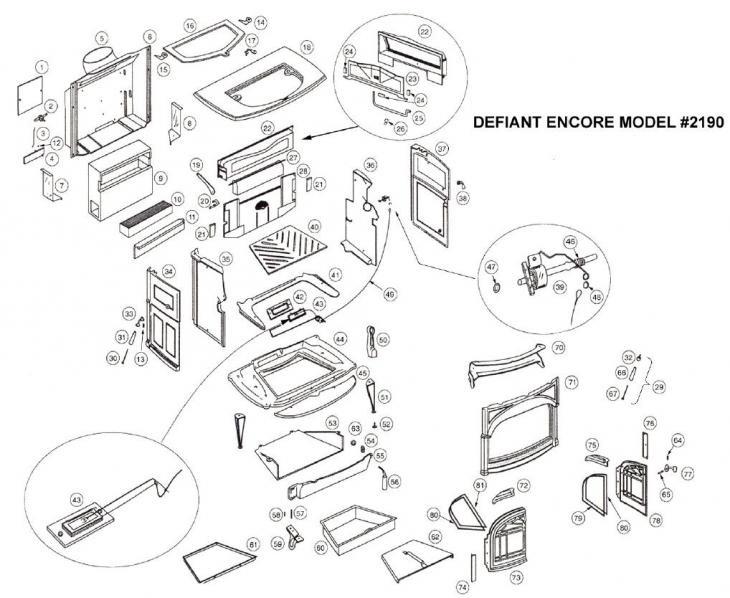 Defiant Encore 2190 - Stove Parts - Vermont Castings Parts - Defiant Encore 2190 - Page