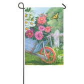 Garden Sub Suede Spring Wagon Flag