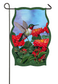 Garden Sub Shaped Flag Hummingbird