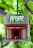Wood Sentiment Garden Birdhouse