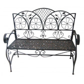Metal Sunleaves Bench