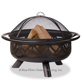 Firepit Oil Rubbed Bronze Finish with Geometric Design
