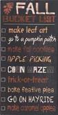 Autumn Bucket List Sign