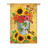Bucket Bouquet Satin Flag
