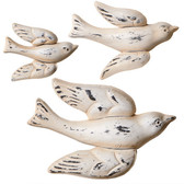 3 Piece Set of Ivory Flying Birds