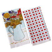 Floral Bouquet and Dot Towel Set