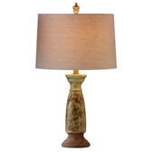 Ceramic Floral Pattern Table Lamp