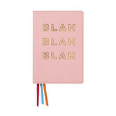 Blah Blah Blah Leatherette Journal