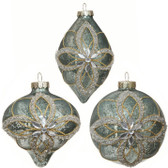"4"" Antiqued Flower Ornament"