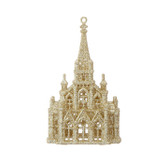 "6"" Glittered Church Ornament"