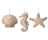 Resin Shell/Seahorse/Starfish Ornament