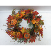 "24"" Pumpkin/Berry Wreath"