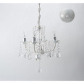 Four Arm Chandelier with Drapped Bead Accents