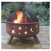 Big Sky Moon and Stars Fire Pit